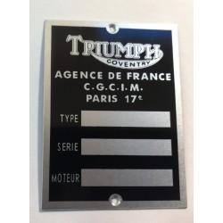 Plaque de cadre Triumph