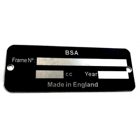 Plaque de cadre BSA