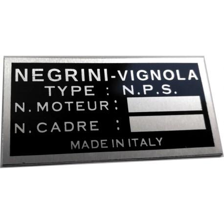 Negrini Vignola identification plate - Data plate