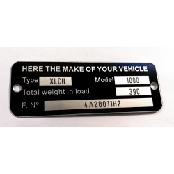 Custom Id plate - Frame plate for all US brands