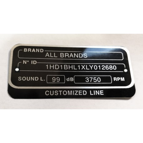 Data plate for motorcycles all brands
