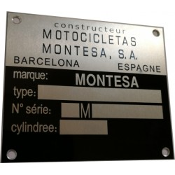 Montesa identification plate - vin plate