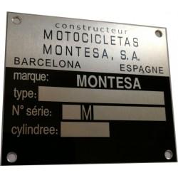 Plaque de cadre Montesa