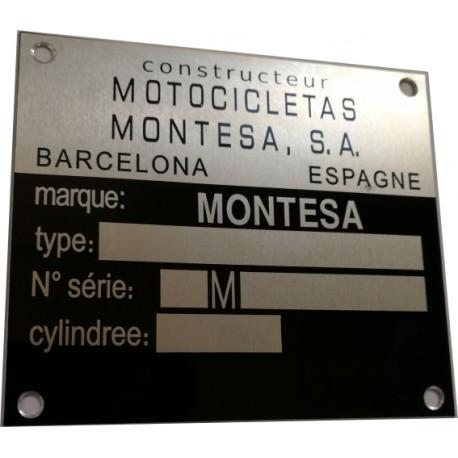 Montesa identification plate - vin plate