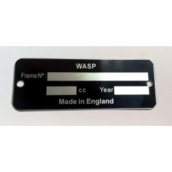 Wasp identification plate - Wasp data plate