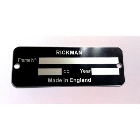 Plaque de cadre Rickman