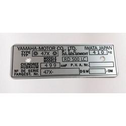 Plaque de cadre Yamaha RD 500