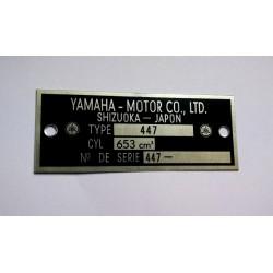 Plaque de cadre Yamaha 650 XS