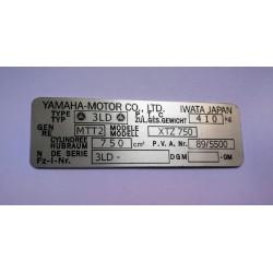 Plaque de cadre Yamaha XTZ 750