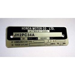 Plaque de cadre Honda CB Hornet