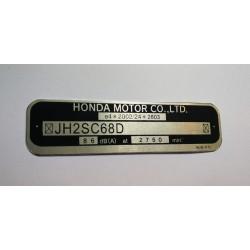 Honda GL1800 vin plate