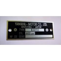 Plaque de cadre Yamaha 600 FZ6 - RJ07LLL
