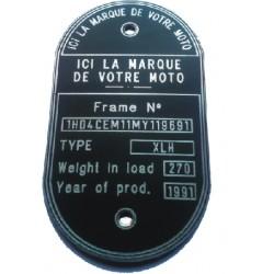 Plaque Personnalisable Aluminium