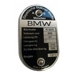 BMW r90 / 6 id plate