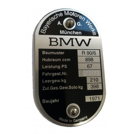 Plaque de cadre BMW r90