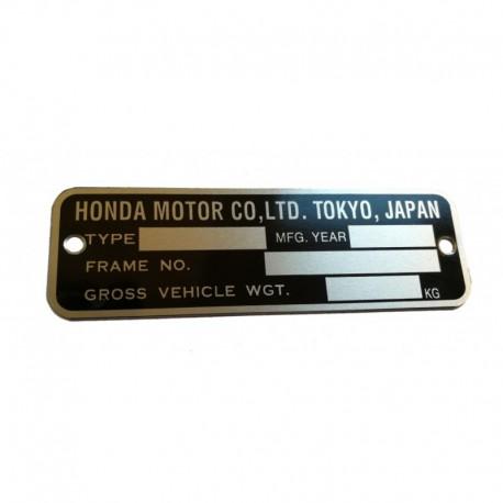 Plaque de cadre Honda CB