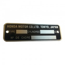 750 Four Honda Identification Plate French Version