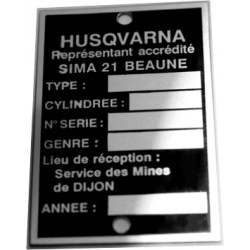 Plaque de cadre Husqvarna