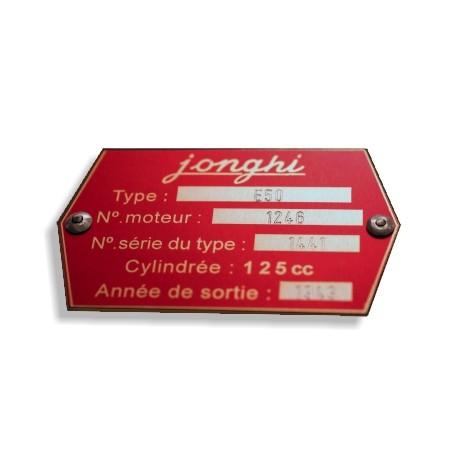 Plaque de cadre Jonghi