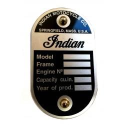 Plaque de cadre Indian