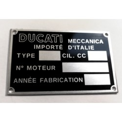 Ducati identification plate - Data plate