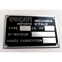 Plaque de cadre Ducati Meccanica