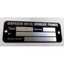 Plaque Diapason