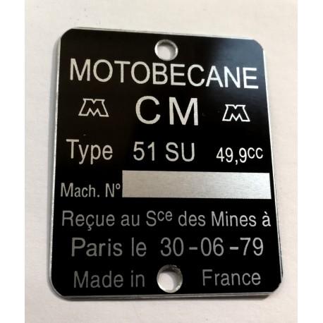 Plaque Motobécane Motoconfort
