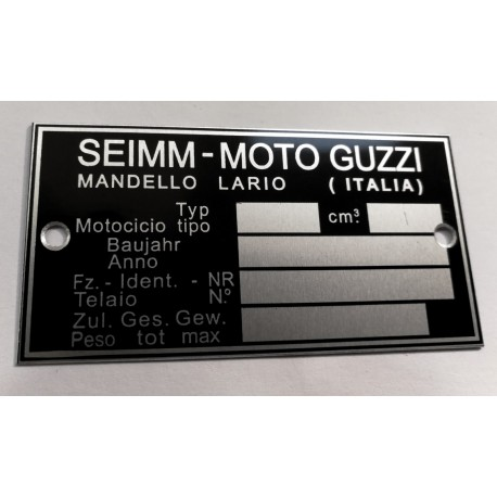 Plaque de cadre Moto Guzzi