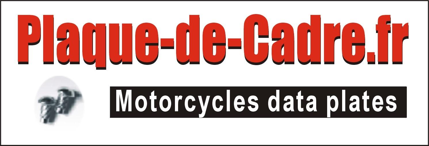 Identification plate for Honda motorbikes  - Plaque de Cadre