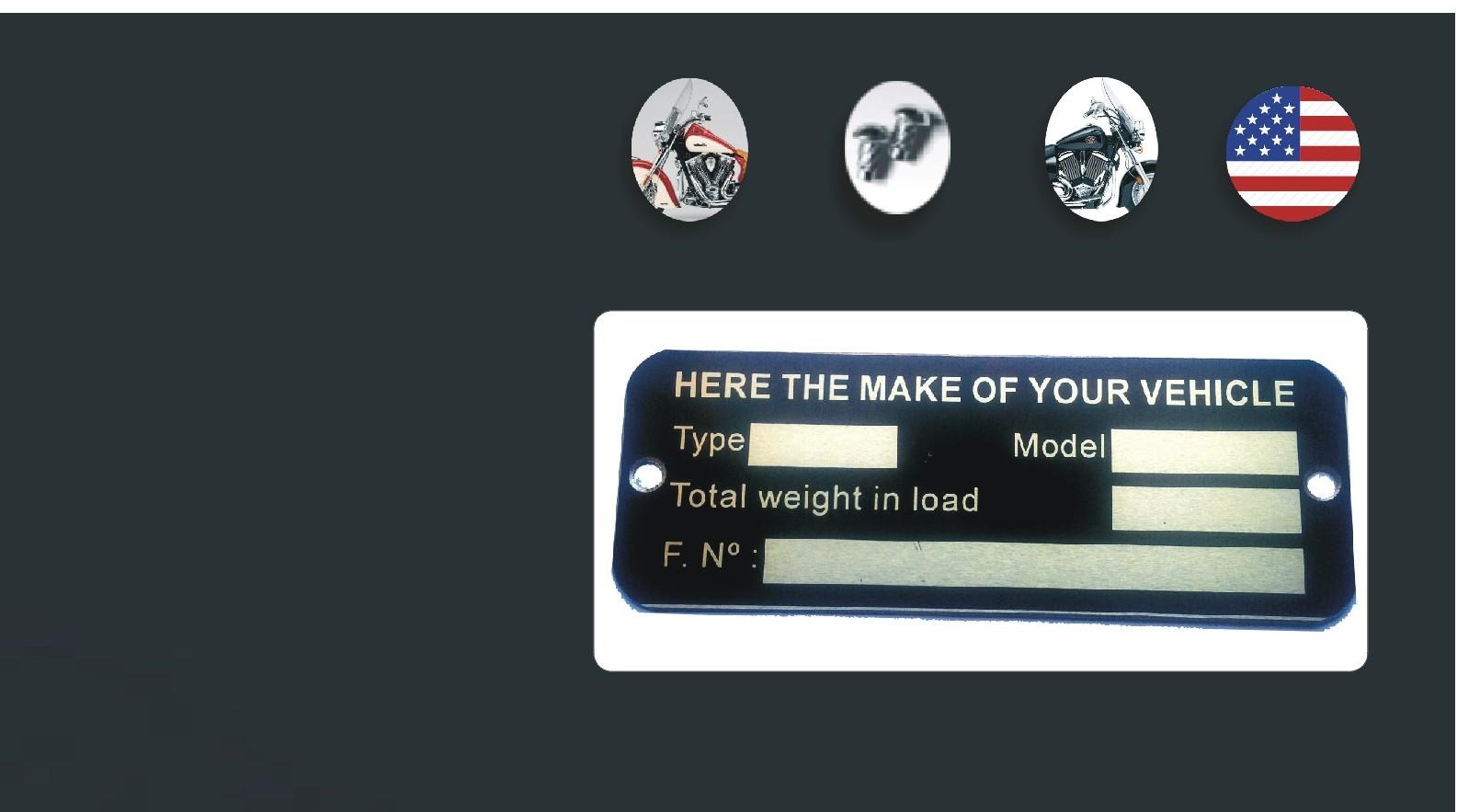 identification plate Harley Davidson
