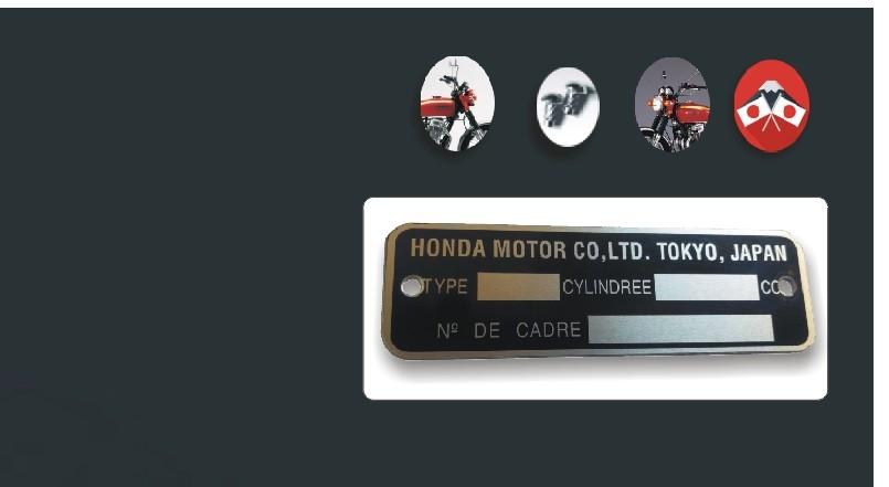 Plaque de Cadre Honda 750 Four